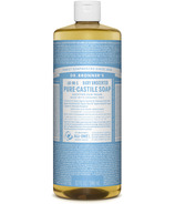 Dr. Bronner's Organic Pure Castile Liquid Soap Baby Unscented 32 Oz