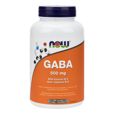 NOW Foods B-6 Plus 500mg GABA