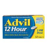 Advil 12 Hour Ibuprofen Extended Release Tablets 52 Pack