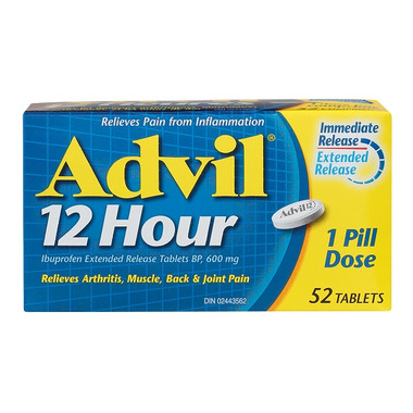 Advil 12 Hour Ibuprofen Extended Release Tablets 52 Pack