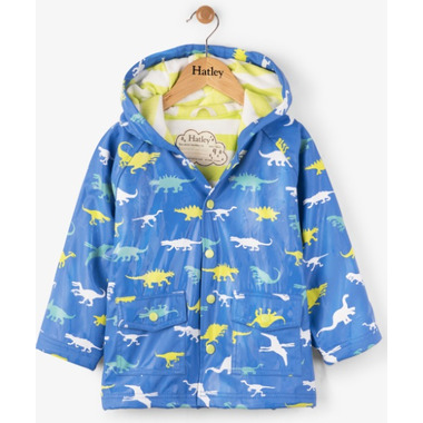Hatley Colour Changing Baby Raincoat Dinosaur Menagerie