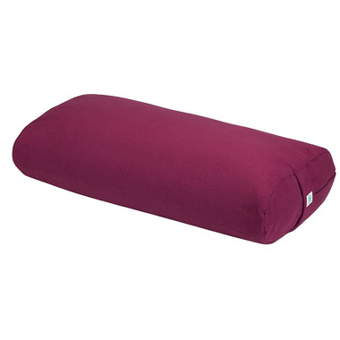 Gaiam Sol Studio Select Square Bolster Burgundy