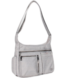 Lug Double Dutch Crossbody Bag Brushed Silver