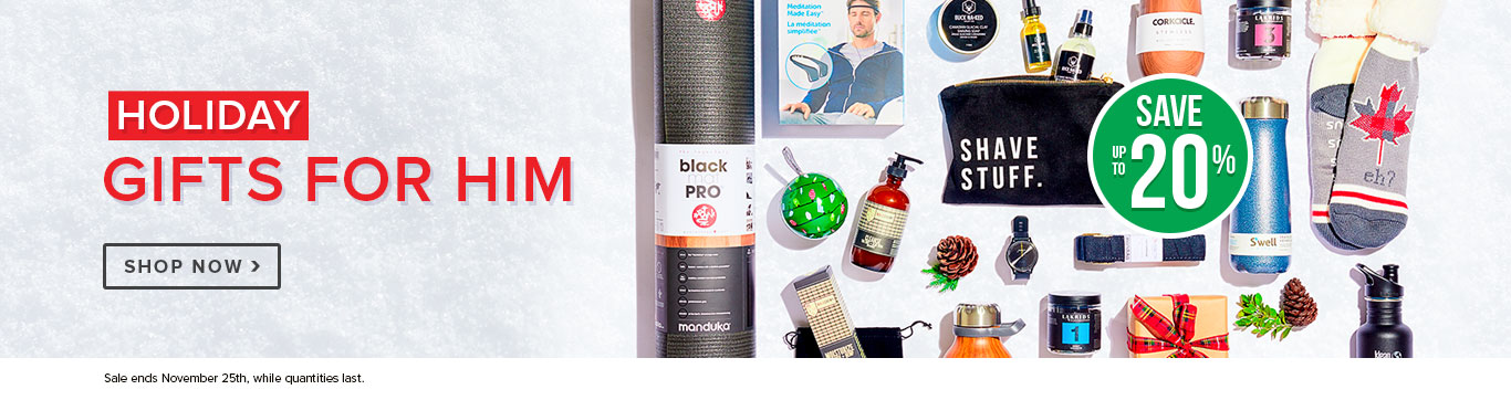 Up to 20% off Gifts for Him