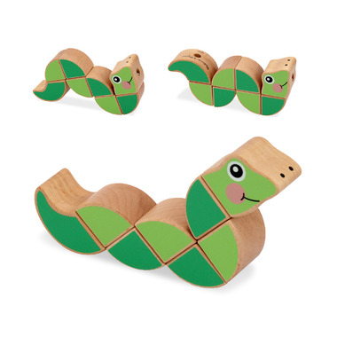 Melissa & Doug Wiggling Worm Grasping Baby Toy