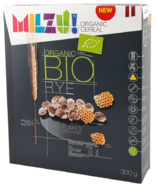 Milzu Organic Cereal Rye Flakes with Honey