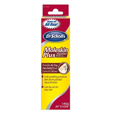 Dr. Scholl\'s Moleskin Plus Padding Roll