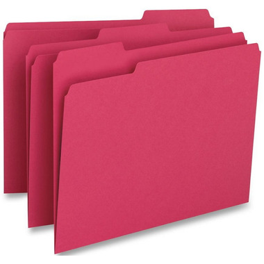 Business Source Coloured Top Tab File Folders