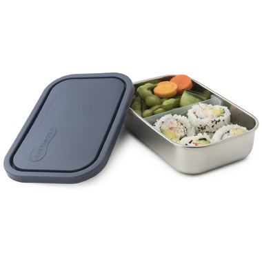 U-Konserve Divided Rectangle To-Go Stainless Steel Container in Lime
