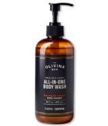 Olivina Men All-in-One Body Wash Bourbon Cedar