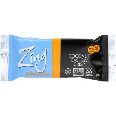 Zing Bars Coconut Cashew Crisp Nutrition Bars
