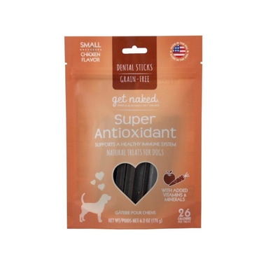 Natural Polymer Int. Get Naked Super Antioxidant Small Chew Sticks for Dogs