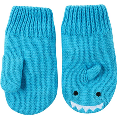 ZOOCCHINI Baby Knit Mittens Sherman the Shark