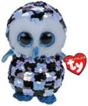 Ty Flippables Topper Sequin Blue Black Owl Regular