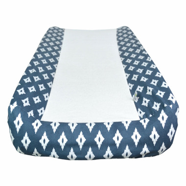 Perlimpinpin Changing Pad Cover Navy Diamonds