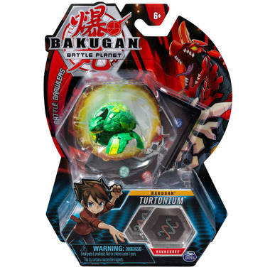Bakugan Turtonium Tall Collectible Action Figure and Trading Card