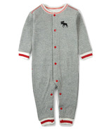 Hatley Little Blue House Baby Union Suit Canadiana Moose