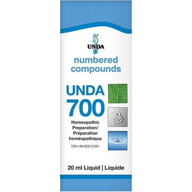 UNDA Numbered Compounds UNDA 700 Homeopathic Preparation