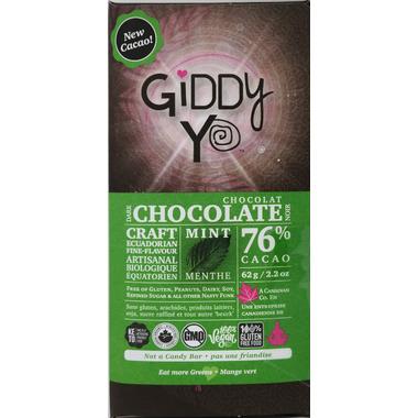 Giddy Yoyo Organic Chocolate Bar Mint
