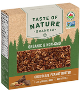 Taste of Nature Organic Granola Bars Chocolate Peanut Butter Case of 5x35g