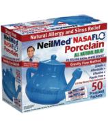 NeilMed NasaFlo Blue Porcelain Neti Pot