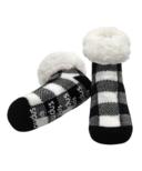 Pudus Classic Lumberjack White Socks Kids