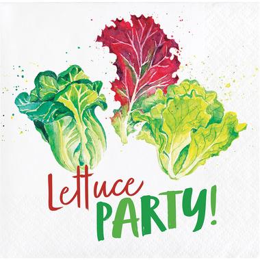 Elise Garden Humor 3 Ply Beverage Napkins Lettuce