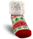 Pudus Classic Slipper Sock I love Christmas