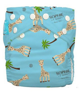 Charlie Banana Sophie La Girafe Reusable Diaper with Inserts Blue