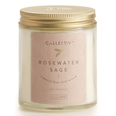 Illume Rosewater Sage Julia Jar Candle