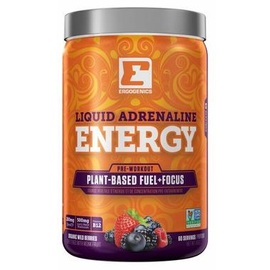 Ergogenics Nutrition Liquid Adrenaline Energy Berry