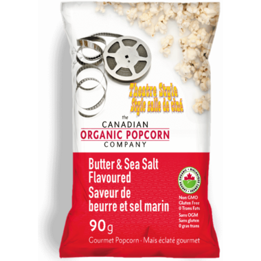The Canadian Organic Popcorn Company Butter & Sea Salt