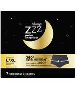 Always ZZZ Overnight Disposable Period Underwear Size L