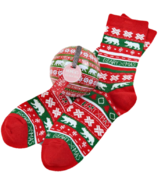 Little Blue House Women's Socks in Ornament Beary Xmas