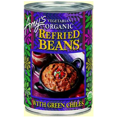 Amy\'s Organic Refried Beans With Green Chilis