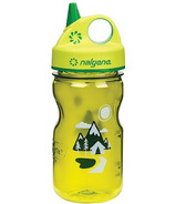 Nalgene 12 Ounce Grip-n-Gulp Bottle Green with Trail Art