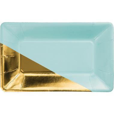 Elise Rectangular Appetizer Plate Mint