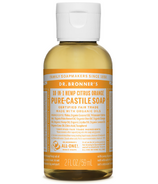 Dr. Bronner's Organic Pure Castile Liquid Soap Citrus Orange 2 Oz