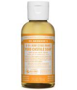 Dr. Bronner's Organic Pure Castile Liquid Soap Citrus Orange 2 Oz