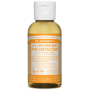 Dr. Bronner\'s Organic Pure Castile Liquid Soap Citrus Orange 2 Oz