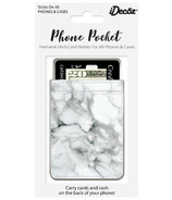 iDecoz Phone Pocket White Marble Faux Leather