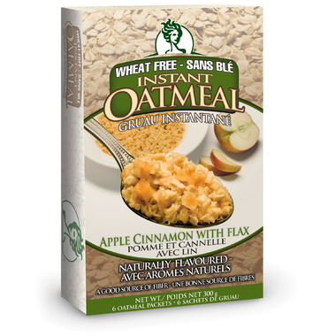 GlutenFreeda Apple Cinnamon with Flax Instant Oatmeal