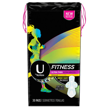 U by Kotex Fitness Ultra Thin Pads Regular