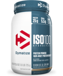 Dymatize Nutrition ISO100 Hydrolyzed Whey Protein Cookies & Cream