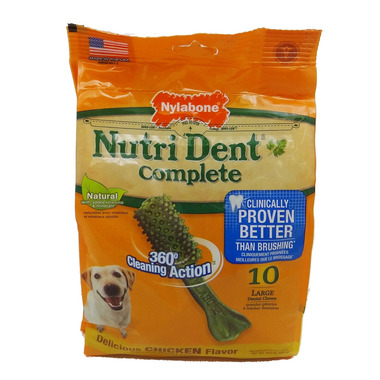 Nutri Dent Complete Dental Chews Chicken Large size 10 pack