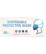 Masques de protection jetables blancs