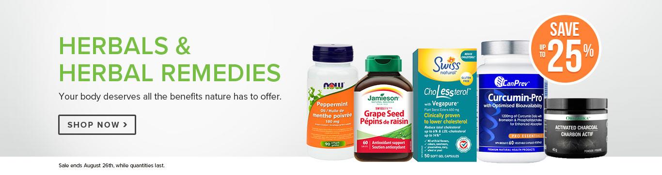 Save up to 25% on Herbals & Herbal Remedies