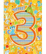 Peaceable Kingdom Age 3 Pattern Foil Card