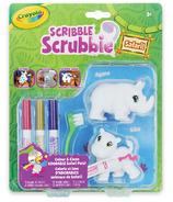 Crayola Scribble Scrubble rhino et hippo en safari