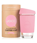 JOCO Glass Reusable Coffee Cup in Strawberry Pink